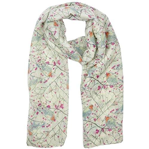 lookatool Lady Womens Long Cute Bird Print Scarf Wraps Shawl