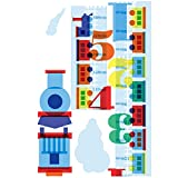 Wallies Wall Decals, Train Track Growth Chart Wall Sticker, 9-1/2-inch x 72-inch