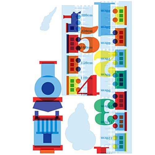 (Wallies Wall Decals, Train Track Growth Chart Wall Sticker, 9-1/2-inch x 72-inch)