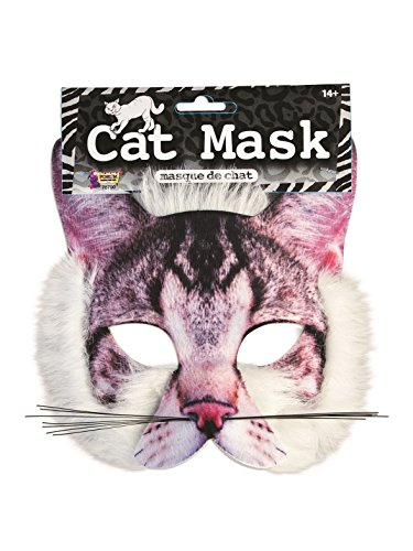Forum Novelties Cat Mask 3D Screen Print Realistic Look Soft Face Mask Fun Fur Adult Or Child]()