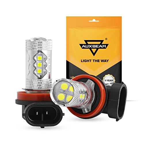 Auxbeam H11 H8 H9 LED Light Bulb 50W LED Bulbs for Signal, Turn, Brake, Parking, Tail, DRL and Fog lights (Pack of 2)