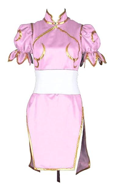 Amazon.com: CHIUS Cosplay Disfraz Rosa de Combate Vestido ...