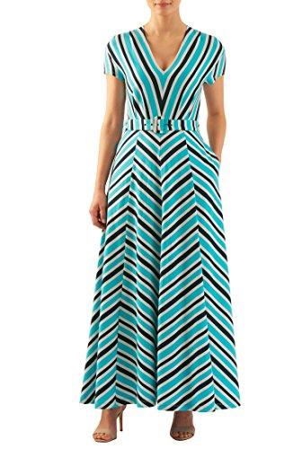 Buy belted chevron stripe dress - 2