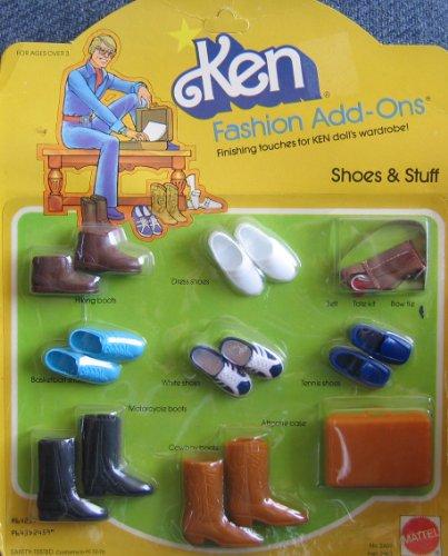 Barbie KEN Fashion Add Ons SHOES & STUFF (1980 Mattel (Hawthorne Wardrobe)