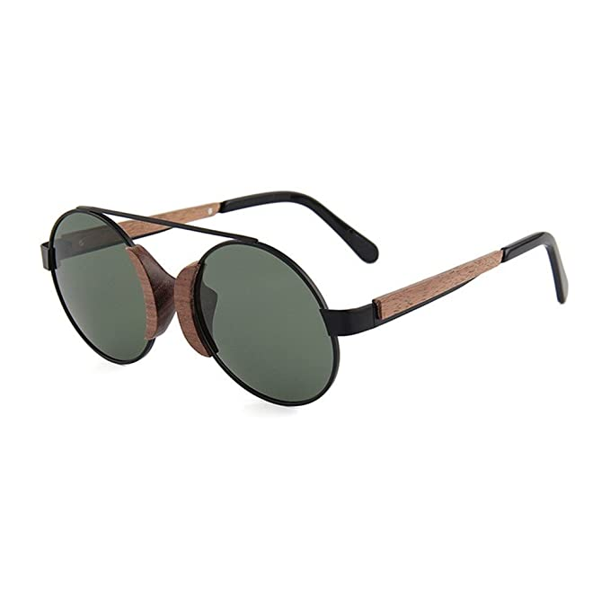 Shop 6 Gafas de sol Gafas de metal gafas de sol polarizadas de madera de bambú gafas de sol de madera con personalidad femenina: Amazon.es: Ropa y ...