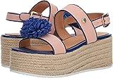 Love Moschino Women's Platform Sandal w/Pom Pom Pink/Black 40 M EU