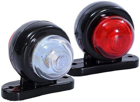 2 X LED SIDE MARKER LIGHTS INDICATOR RUBBER LAMP TRAILER TRUCK 12V OUTLINE