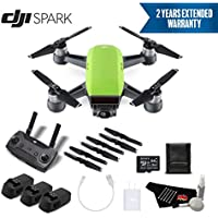 DJI Spark Portable Mini Drone Quadcopter Professional Bundle (Meadow Green) w/Remote Controller + 2 Year Extended Warranty