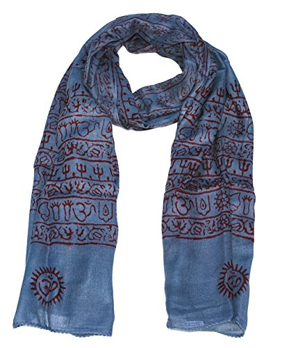 Women's Printed Ohm Prayer Meditation Yoga Scarf - Choose From a Variety of Stylish Colors (24