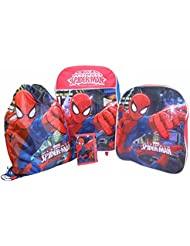 Marvel Spiderman 4 Piece Children's Luggage set