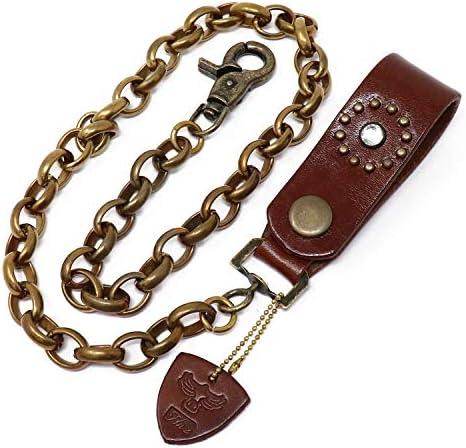 [해외]H.N.Z 황동 지갑 체인 스 탓 즈 브라 스 가죽 바이 커 bckw-014 CHOCO / H.N.Z Brass Wallet Chain Studs Brass Cowhide Biker bckw-014 CHOCO