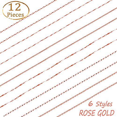 Whaline 18 inches Rose Gold Silver Plated Chain