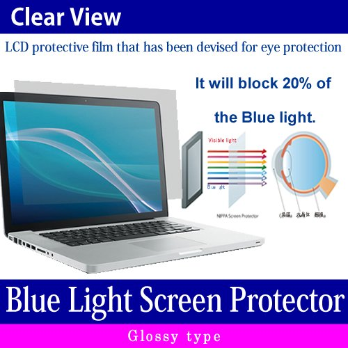 (Media Cover Market)Silicon keyboard cover and a set of Screen Protector[Glossy type] to block the blue light for 12.5 inch monitor[16:9] models