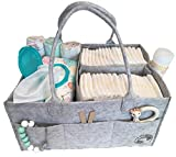 Diaper Caddy By Littlest Sweet: Nursery and Car Organizer, Changing Table Bag, Large Pockets And Compartments, Baby Diaper Stacker Bin, Also Used to Hold Snacks, Bottles, Bibs, Toys And Pacifiers Image
