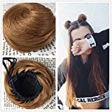 HIKYUU Clip in Human Hair Bun Scrunchie Human Hair Chignon Updo Hairpiece for Women Updo Hair Extensions #27 Caramel Blonde