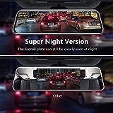 Upgraded 10'' Mirror Dash Cam Night Vision Backup