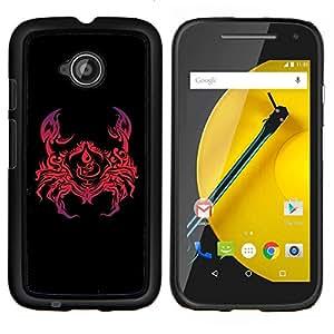 """Be-Star Único Patrón Plástico Duro Fundas Cover Cubre Hard Case Cover Para Motorola Moto E2 / E(2nd gen)( Enfriar Cangrejo Arte abstracto rojo"""" )"""