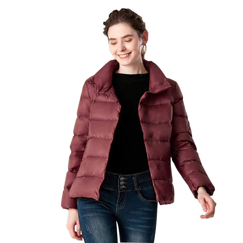 Daunenjacke Damen Winter Slim Short Mit Kapuze, Erwachsene Casual Koreanische Jacke