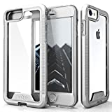 Zizo ION Series Compatible with iPhone 8 Case Military Grade Drop Tested with Tempered Glass Screen Protector iPhone 7 case Silver Clear