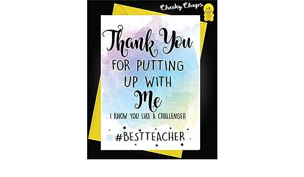 Tarjeta de agradecimiento, profesor, auxiliar de enseñanza ...