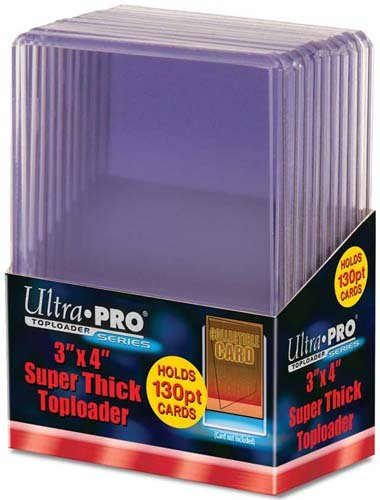 Ultra Pro 3 X 4 in. Top Loader, 130 Point (Trading Top Card)