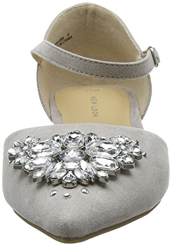 New Look Damen Jewel Pumps Grey (Mid Grey)
