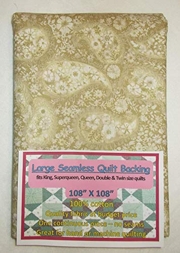 Quilt Backing, Large, Seamless, Tan, C49374-A11
