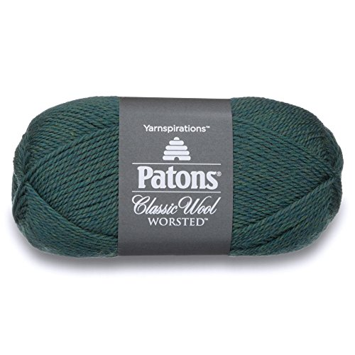 Patons  Classic Wool Yarn - (4) Medium Gauge 100% Wool - 3.5oz -  Jade  -   For Crochet, Knitting & Crafting ()