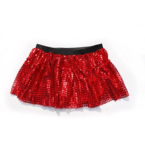 [Dreamdanceworks Women Running Skirt Race Tutu, Costume, Princess, Ballet, Dress-Up, 5K (S/M, Red)] (Black Sparkly Dance Costumes)
