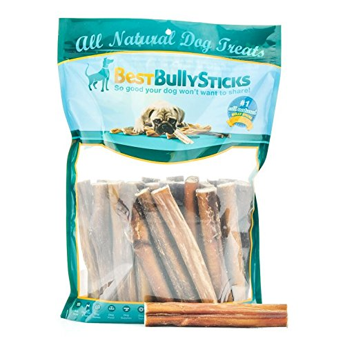 All-Natural 6-inch Thick Odor-Free Bully Sticks by Best Bully Sticks (25 Pack)