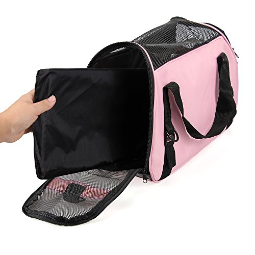 Portable-Pet-Carrier-Airline-Approved-Travel-Pet-Carrier-with-Bottom-Cushion-Pad-Cat-Carrier-Puppy-Carrier-Under-Seat-Cat-in-a-Bag-Carrier-Soft-Sided-Pet-Carrier-for-Small-Dog-Kitten-Rabbit-Cat