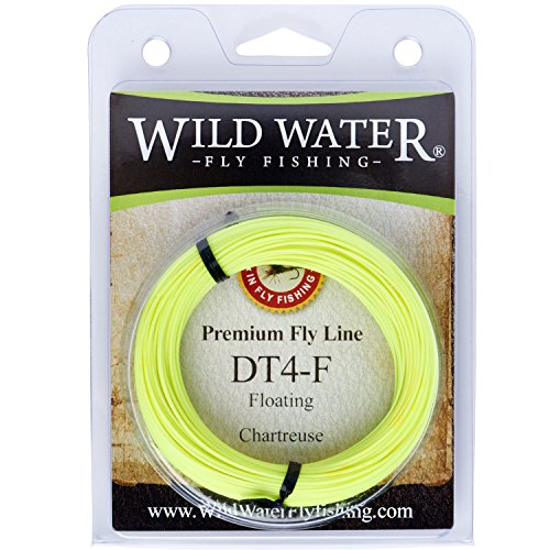 Wild Water High Floating 4-Weight Chartreuse Double Taper Fly Fishing Line, 90 ft (Floating Freshwater Fly Line)