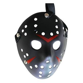 Mascara Halloween Jason, Zolimx Máscara de Halloween Terror Máscara de Cara Máscara de Disfraces (Negro): Amazon.es: Deportes y aire libre