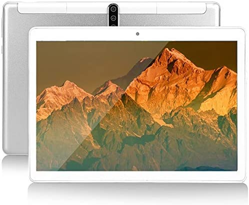 10 inch Android Tablet, Octa-Core Processor, Android OS, 4GB ROM, 1280x800 IPS HD Display, 5G-WiFi, Bluetooth, GPS, 64GB, P40 (Silver)