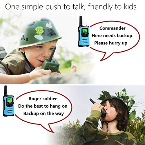 Ahtandy Walkie Talkies for Kids,22 Channel Kids Walkie Talkies Toys, Prevent Children\'s Myopia and Away from Electronic Games,Gifts for Kids Adventure Gear to Camping, Games, Hiking(Blue, 2 Pack)