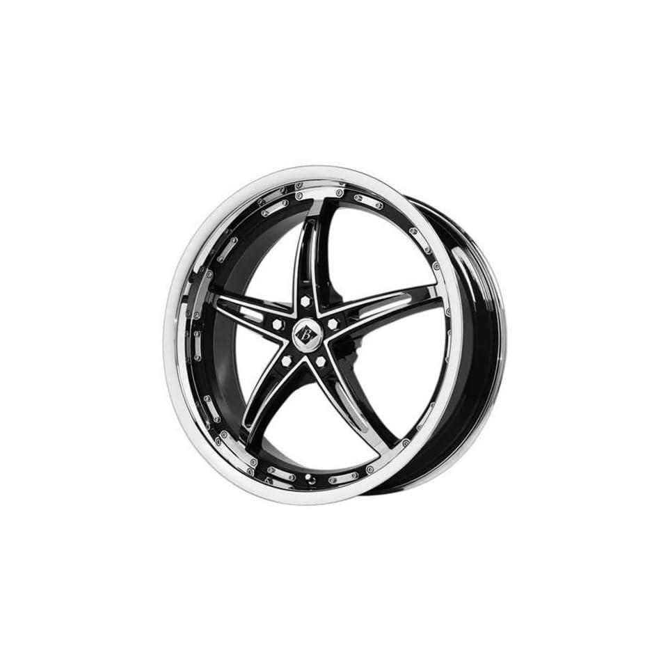 Black Ice Mayhem 17 Chrome Black Wheel / Rim 5x5 with a 40mm Offset and a 72.62 Hub Bore. Partnumber VB8 777340C