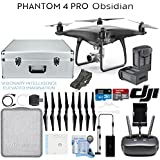 DJI Phantom 4 Pro Obsidian Quadcopter Drone with Spare Battery + Hard Case Bundle
