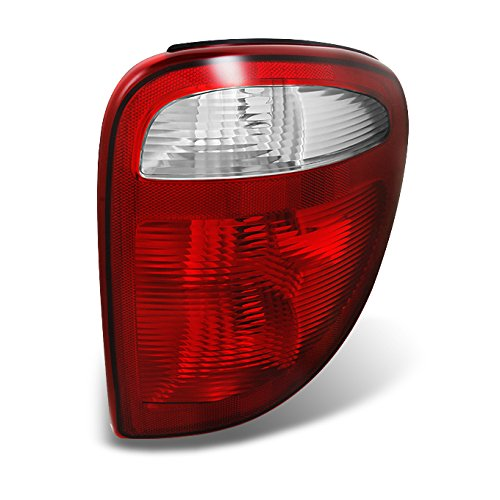 01-03 Caravan Plymouth Voyager Chrysler Town & Country Red Clear Passenger Side Tail Light Lamp