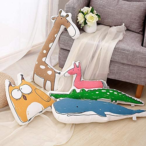 Big Stuffed Crocodile Plush Toys Soft Animals Sleep Bed Pillow Baby Crib Cushion