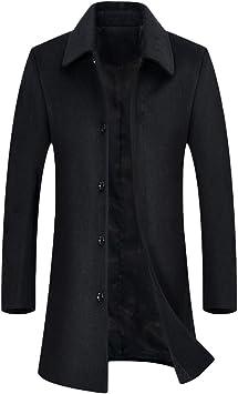メンズウィンターウールロングトレンチコートビジネスカジュアルウールジャケットプラスサイズ