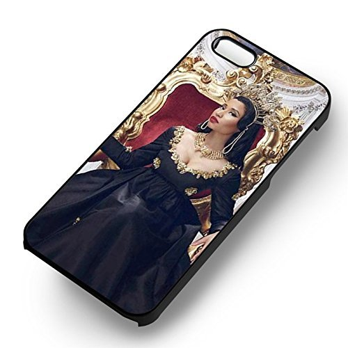 Queen Minaj pour Coque Iphone 5 or Coque Iphone 5S or Coque Iphone 5SE Case (Noir Boîtier en plastique dur) B6N4VD