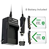 Battery (2-Pack) and Charger for Sony HDR-CX405, HDR-CX440, HDR-PJ440, HDR-PJ410 Handycam Camcorder