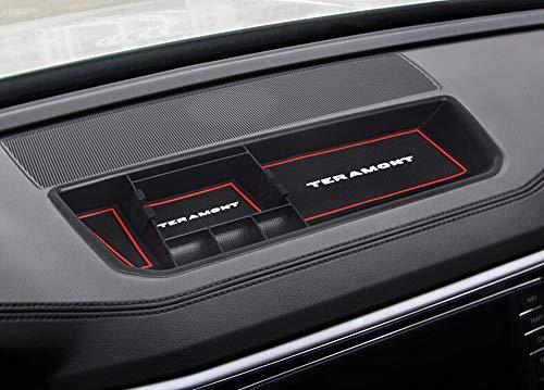Salusy Car Center Console Dashboard Storage Box Organizer Tray for Volkswagen Atlas 2018 2019 ()