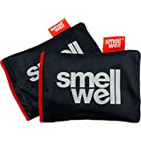 SmellWell Shoe Deodorizer and Freshener: Scented Natural Charcoal Moisture Remover - For All Shoes, Boxing Gloves, Gym Bags and Lockers (2 Pack Black Shadow)