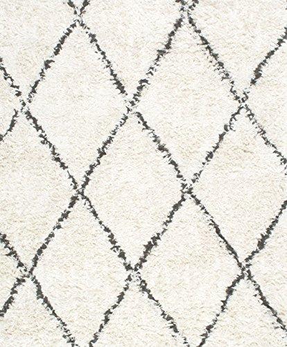 nuLOOM SPRE14A Handmade Fez Shag Rug 4 x 6 Natural