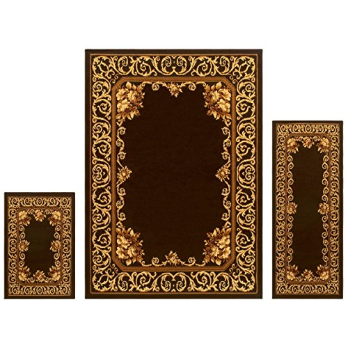 Superior Freyberg Collection 3-Piece Rug Set, Attractive Rug