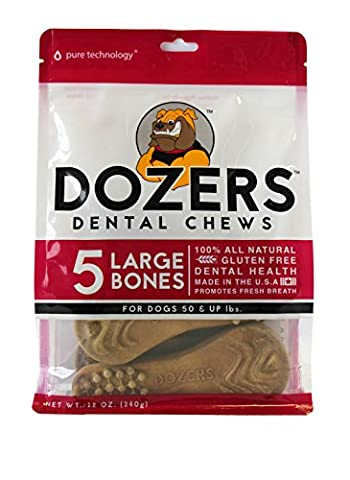 Dozers Dental Dog Chews, Large, 12 oz. - 5 Treats