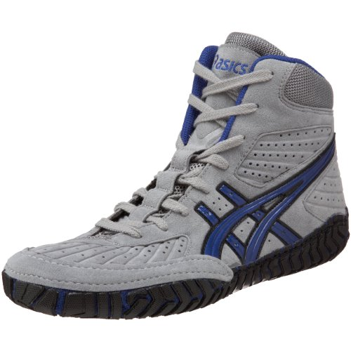 Asics Heren Agressor Worstelen Schoen Grijs / Royal Blue