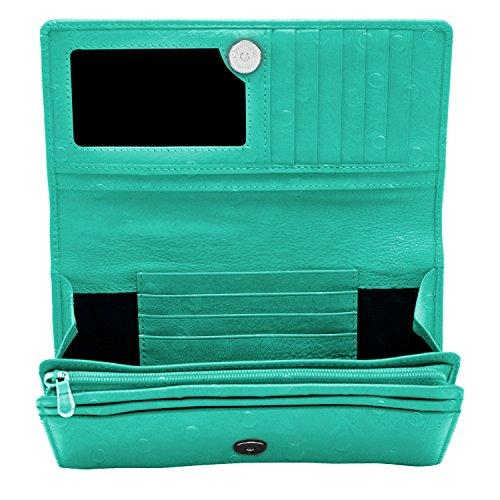 Organizer Wallet (Genuine Leather Wallets For Women - Womens Accordion Organizer With Coin Purse & ID Window RFID Blocking)