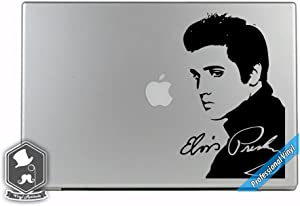 Elvis Presly Inspired Musician The King of Rock and Roll Art Vinyl Decal Sticker for Apple MacBook Dell HP Alienware Asus Acer or Any Laptop Notebook PC Computer
